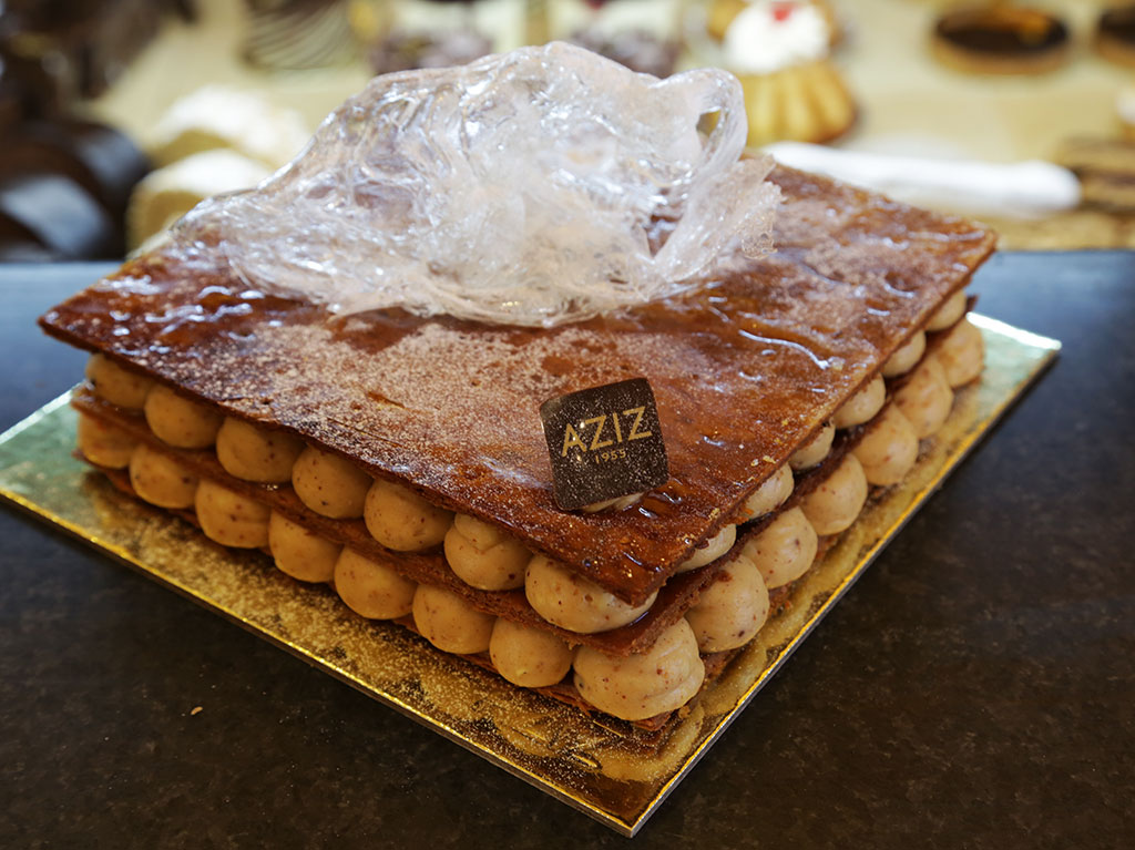 Almond millefeuille